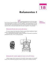 DESENHO MECANICO CAP 18 Rolamentos PARTE 1
