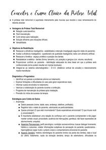 Conceitos e Exame Clínico da Prótese Total