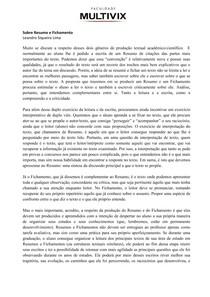 Português   Resumo x Fichamento