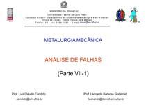Análise de Falhas -  Cap. VII-1