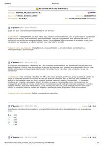 AV1 (Simulado) Marketing Aplicado à Nutrição