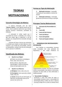 Teorias Motivacionais Resumo Pdf Psicologia
