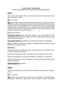 Caso Clínico - cefaleia