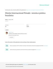 Direito Internacional Privado teroria e pratica br