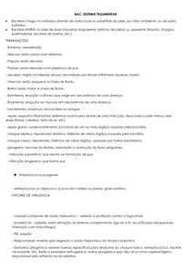 RESUMÃO - BACTERIAS SISTEMA RESPIRATORIO E TEGUMENTAR - MAD II