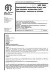 NBR 08460   2003   Recipiente Transportável de Aço para GLP