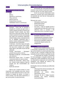 Resumo Intervenções Cinesioterápicas - Aula 3