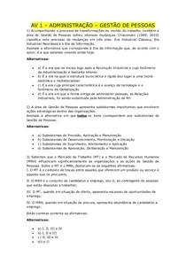 AV 1 - GESTÃO DE PESSOAS