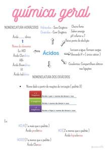 Química geral - Ácidos