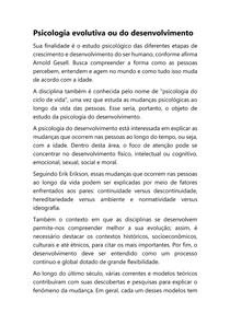 Psicologia evolutiva ou do desenvolvimento