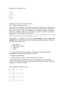 APOL Artes Visuais   Digital NOTA 100 UNINTER