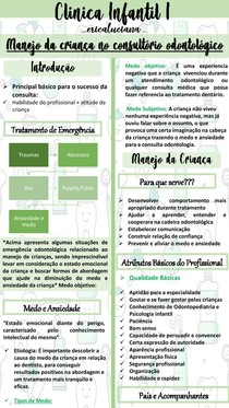 Clinica Infantil I- Manejo da Criança