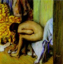 Edgar Degas - After the Bath Woman Drying her Left Foot