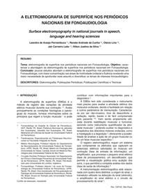 A ELETROMIOGRAFIA DE SUPERFÍCIE NOS PERIÓDICOS NACIONAIS EM FONOAUDIOLOGIA