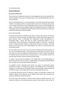 Nova ordem constitucional- Thiago Varella