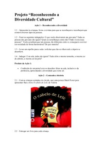 Projeto O Cabelo De Lele Pedagogia