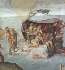 Michelângelo - Genesis Noah The Flood right view