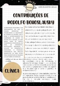 Contribuições de Bohoslavsky para a Orientação Profissional