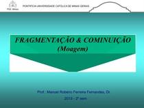 AULA - FRAGMENTACAO MOAGEM