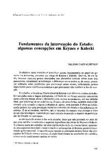 Keynes e Kalecki