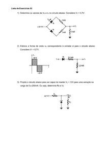 Lista de esxercicios 2 eletricidade