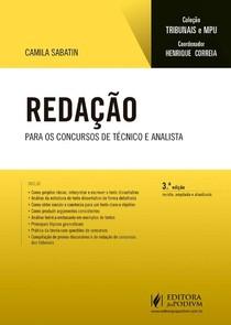#Redação - Para os Concursos de Técnico e Analista (2017)_Camila Sabatin