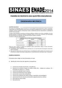 ENADE RESPOSTAS 2014 engenharia mecanica