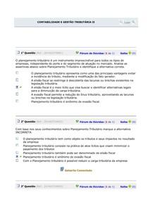 teste 9 CONTABILIDADE E GESTÃO TRIBUTÁRIA II