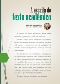 A Escrita do Texto Acadêmico