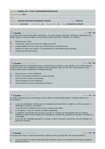 AV2 - Etica e Responsabilidade Socia
