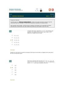 MECÂNICA DOS SÓLIDOS (teste de conhecimentos)
