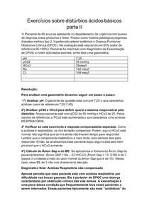 Exercícios sobre distúrbios ácidos básicos parte II