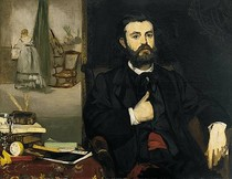 Edouard Manet - Portrait-of-Zacharie-Astruc
