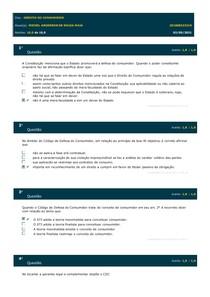 Simulado AV1 - Direito do Consumidor