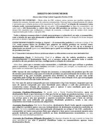 DIREITO DO CONSUMIDOR - Flavia Marimpietri - Caderno para a 1ª Prova