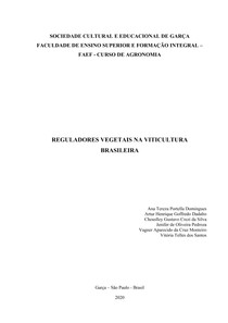 Reguladores Vegetais na Viticultura Brasileira