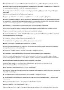 PROVA PSICOLOGIA DO DESENVOLVIMENTO