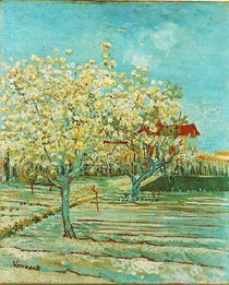 Vincent Willem van Gogh-pomar-em-flor-Cyan