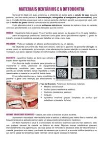 Materiais Dentários e a Ortodontia