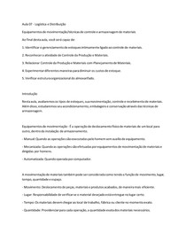 Aula 07 - Logística e Distribuição