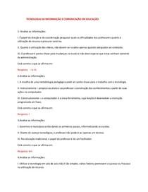 TECNOLOGIA DA INFORMAÇÃO E COMUNICAÇÃO EM EDUCAÇÃO -I
