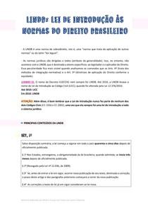 LINDB - Lei de Introdução da Normas Brasileiras (Principais temas)