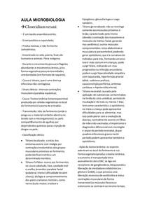 Aula Microbiologia- Clostrídio