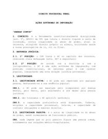 AÇÕES AUTÔNOMAS DE IMPUGNAÇÃO