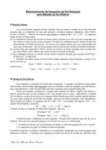 Balanceamento - Método do Íon-elétron