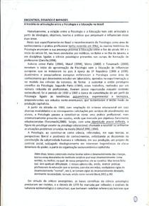 Psicologia e Educação no Brasil