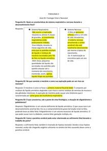 Fisiologia Fetal e Neonatal (resumo)