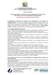 EDITAL 002 17 IPER Analista Técnico Jurídico CONSOLIDADO