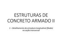 AULA 1   DETALHAMENTO DA ARMADURA LONGITUDINAL (FLEXÃO) NA SEÇÃO TRANSVERSAL