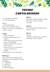 TECIDO CARTILAGINOSO